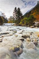 France, Midi Pyrenees, Hautes Pyrenees, River and Lutour valley in autumn Stock Photo - Premium Rights-Managednull, Code: 877-08026609