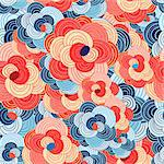 seamless colorful beautiful graphic floral pattern