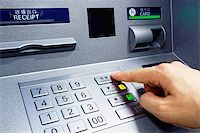 ATM - entering pin close up Stock Photo - Royalty-Freenull, Code: 400-08045872