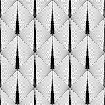 Design seamless diamond geometric pattern. Abstract monochrome lines background. Vector art. No gradient