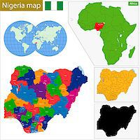 Administrative division of the Federal Republic of Nigeria Stock Photo - Royalty-Freenull, Code: 400-08053112