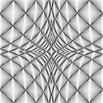 Design diamond concave texture. Abstract geometric monochrome perspective background. Vector art. No gradient