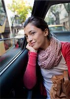 people in argentina - woman in the back of a car, looking out the window Stock Photo - Premium Royalty-Freenull, Code: 613-08057009