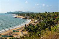 View over Anjuna beach, Goa, India, Asia Stock Photo - Premium Rights-Managednull, Code: 841-08059516