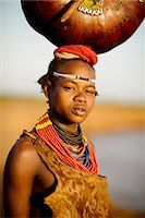 Portrait of Abua by the Omo River, Dassanech Tribe, Rate Village, Omorate, Omo Valley, Ethiopia, Africa Stock Photo - Premium Rights-Managednull, Code: 841-08059649