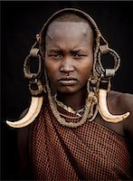 Portrait of Ntorol, Mursi Tribe, Chamolo Village, Omo Valley, Ethiopia, Africa Stock Photo - Premium Rights-Managednull, Code: 841-08059660