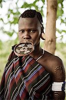Portrait of Ana, Mursi Tribe, Marege Village, Omo Valley, Ethiopia, Africa Stock Photo - Premium Rights-Managednull, Code: 841-08059661