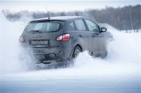 Car drift spray snow Stock Photo - Royalty-Freenull, Code: 400-08073763