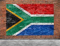 Flag of Republic of South Africa and part of foreground Stock Photo - Royalty-Freenull, Code: 400-08074655
