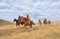 Cowboys and Cowgirls Riding Horses, Shell, Wyoming, USA Stock Photo - Premium Royalty-Freenull, Code: 600-08082907