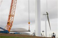 Wind turbine being erected Stock Photo - Premium Royalty-Freenull, Code: 649-08085572