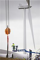 Engineer working on wind turbine Stock Photo - Premium Royalty-Freenull, Code: 649-08085573