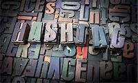 Letterpress letters spelling the word Hashtag Stock Photo - Premium Royalty-Freenull, Code: 649-08085610