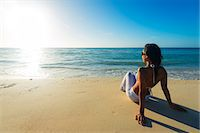 sandi model - South East Asia, Philippines, The Visayas, Cebu, Bantayan Island, Sugar Beach, girl relaxing on the beach (MR) Stock Photo - Premium Rights-Managednull, Code: 862-08091001