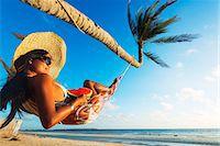 sandi model - South East Asia, Philippines, The Visayas, Cebu, Bantayan Island, Sugar Beach, girl relaxing on the beach (MR) Stock Photo - Premium Rights-Managednull, Code: 862-08091007