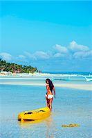 sandi model - South East Asia, Philippines, The Visayas, Cebu, Bantayan Island, Paradise Beach, girl with a kayak (MR) Stock Photo - Premium Rights-Managednull, Code: 862-08091009