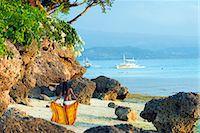 sandi model - South East Asia, Philippines, The Visayas, Cebu, Moalboal, a girl on Panagsama Beach (MR) Stock Photo - Premium Rights-Managednull, Code: 862-08091034
