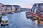 venice, beautiful romantic italian city on sea with great canal and gondolas
