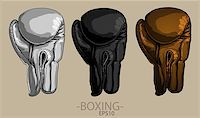 silver box - Three boxing gloves of different colors on a light background Stock Photo - Royalty-Freenull, Code: 400-08096836