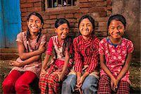 Happy Nepali girls in Bhaktapur Stock Photo - Premium Royalty-Freenull, Code: 6106-08100373