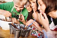 Children baking Stock Photo - Premium Royalty-Freenull, Code: 6102-08120822