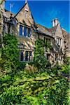 Close-up of stone house, Bourton-on-the-Water, Gloucestershire, The Cotswolds, England, United Kingdom