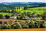Overview of countryside, Chipping Campden, Gloucestershire, The Cotswolds, England, United Kingdom