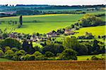 Overview of farmland and countryside, Chipping Campden, Gloucestershire, The Cotswolds, England, United Kingdom