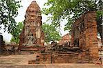 Ancient Buddha statue at Wat Yai Chaimongkol in the historical city, Ayutthaya, Thailand