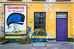 Close-up of building with Guinness sign, Kinsale, County Cork, Ireland