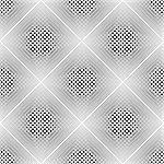 Design seamless monochrome diamond geometric pattern. Abstract grid textured background. Vector art. No gradient