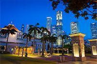 Parliament House and Skyline at Night, Central Region, Singapore Stock Photo - Premium Rights-Managednull, Code: 700-08167190