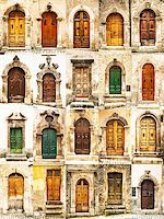 group of italian old doors Stock Photo - Royalty-Freenull, Code: 400-08189301