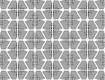 Design seamless monochrome checked hexagon pattern. Abstract grid textured background. Vector art