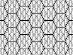 Design seamless monochrome hexagon pattern. Abstract geometric background. Vector art. No gradient