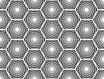 Design seamless monochrome hexagon pattern. Abstract grid textured background. Vector art. No gradient