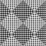 Design seamless diamond geometric pattern. Abstract monochrome background. Vector art