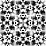 Design seamless monochrome square pattern. Abstract geometric lattice background. Vector art. No gradient