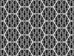 Design seamless monochrome hexagon pattern. Abstract geometric background. Vector art. No gradient