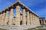 Greek temples of Hera and Neptune, UNESCO World Heritage Site, Campania, Italy, Europe