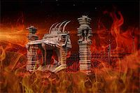 Illustration of the hell gate Stock Photo - Royalty-Freenull, Code: 400-08250495