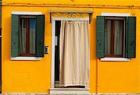 bright yellow typical house facade of Burano island, Venice, Italy Stock Photo - Royalty-Freenull, Code: 400-08253936