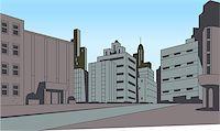 City Street Scene Background for Superhero Comics or Animation Stock Photo - Royalty-Freenull, Code: 400-08263944