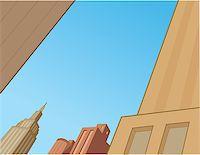 City Sky Scene Background for Superhero Comics and Animation Stock Photo - Royalty-Freenull, Code: 400-08263945
