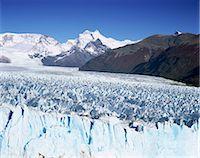 perito moreno glacier - Perito Moreno glacier and Andes mountains, Parque Nacional Los Glaciares, UNESCO World Heritage Site, El Calafate, Argentina, South America Stock Photo - Premium Royalty-Freenull, Code: 6119-08266290
