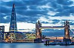Tower Bridge on the River Thames with the Shard behind, London, England, United Kingdom, Europe