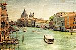 Retro stylized photo of Venice, Grand channel