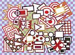 Vector background with abstract geometric shapes.