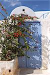 An entrance to a traditional greek house in Santorini Stock Photo - Royalty-Free, Artist: ElinaManninen, Code: 400-08371613