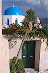Entrance to a traditional house in Oia, Santorini, Greece